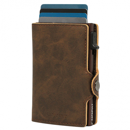 Plånbok Jack Brunt Skinn (RFID säker)